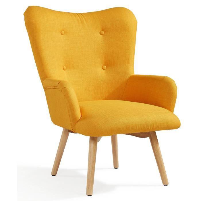 fauteuil jaune achat vente fauteuil jaune pas cher cdiscount. Black Bedroom Furniture Sets. Home Design Ideas