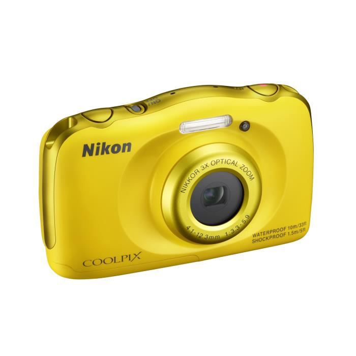 APPAREIL PHOTO COMPACT NIKON COOLPIX S33 Jaune Appareil photo numérique C