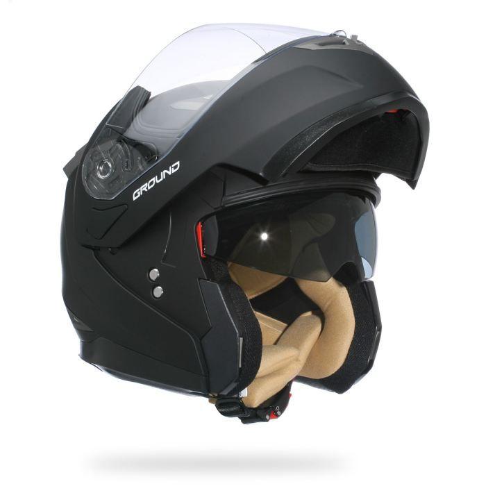stormer casque modulable ground noir mat achat vente casque moto scooter stormer casque. Black Bedroom Furniture Sets. Home Design Ideas