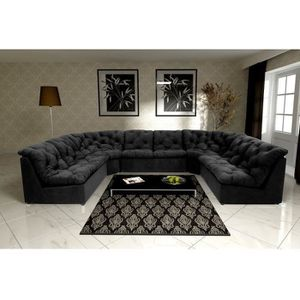 canape d angle 10 places achat vente canape d angle 10 places pas cher cdiscount. Black Bedroom Furniture Sets. Home Design Ideas