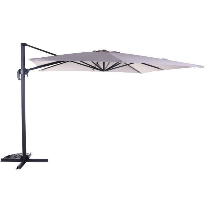 comment fixer un parasol sur un balcon aperu parasol led m mt central avec lumire intgre et. Black Bedroom Furniture Sets. Home Design Ideas