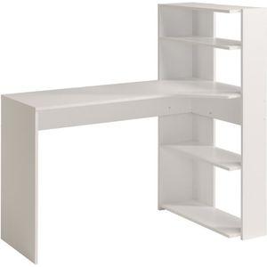 BUREAU  JUNE Bureau d'angle contemporain décor blanc - L 1