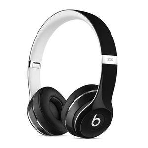 CASQUE - ÉCOUTEURS BEATS Solo 2 Luxe Edition noir Casque audio avec m