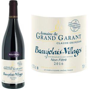 VIN ROUGE Domaine de Grand Garant Beaujolais Villages 2016 -