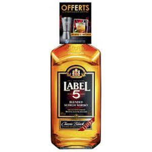 WHISKY BOURBON SCOTCH Label 5 - Blend Scotch Whisky - 40%vol - 1L + 1 do