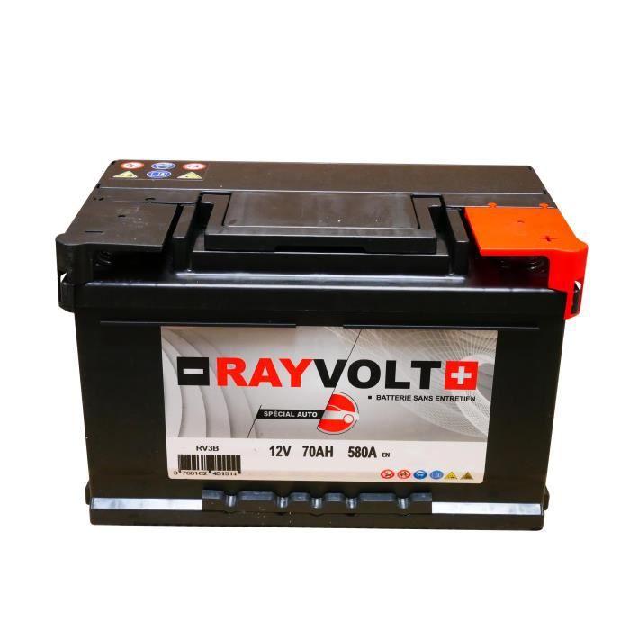 BATTERIE VÉHICULE Batterie auto RAYVOLT RV3B 70AH 580A