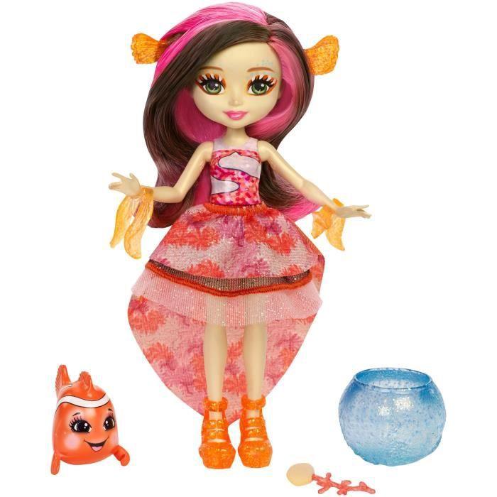 POUPÉE ENCHANTIMALS - Mini-poupée Cheveux Magiques & Pois