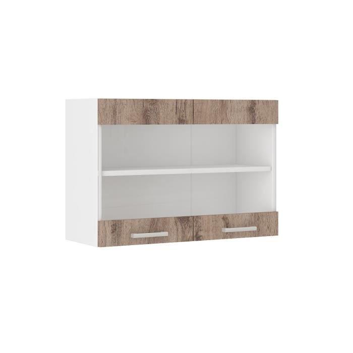 meuble haut cuisine vitree achat vente meuble haut cuisine vitree pas cher cdiscount. Black Bedroom Furniture Sets. Home Design Ideas