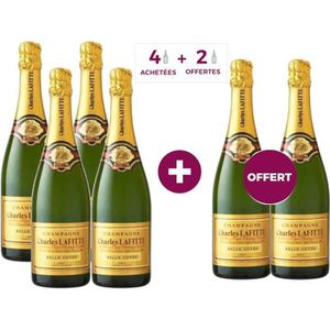 CHAMPAGNE 4 ACHETEES = 2 OFFERTS Champagne Charles Lafitte B
