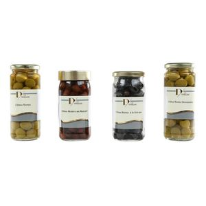 OLIVE D DE TOULZAC Lot de 4 Olives Noires et Vertes 37cl
