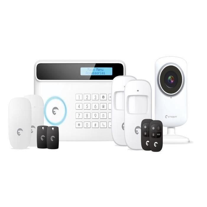 ETIGER Pack alarme maison sans fil S4CV pour fixe et GSM et caméra de  surveillance IP 097ec6dab819