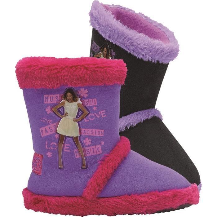 Violetta chaussons riaute enfant fille violet et rose - Jeux de fille de violetta ...
