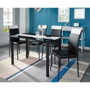 TABLE À MANGER COMPLÈTE ELVIS Ensemble table à manger 4 personnes 120x70 c