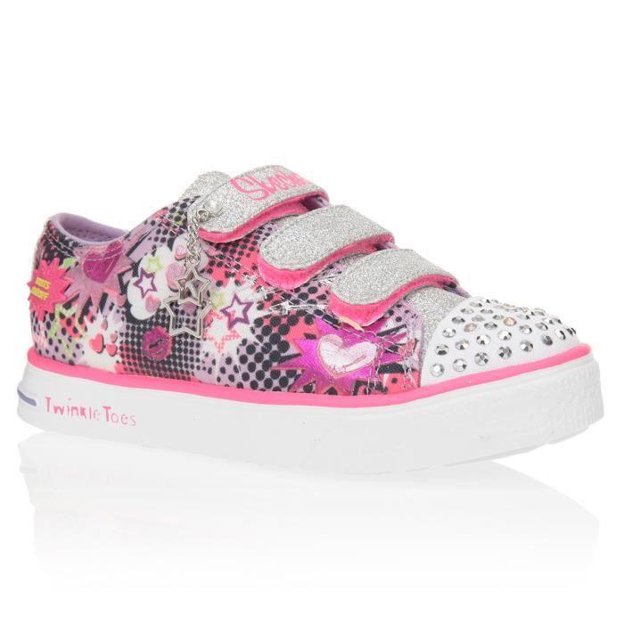 SKECHERS Basketes Twinkle Chaussures Enfant Fille x0Y1el8oP7