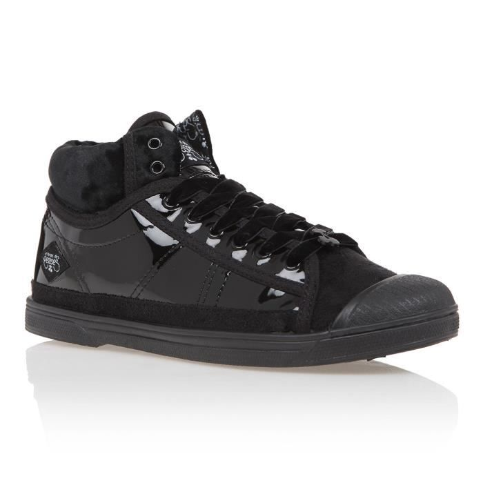 89919b7cafc15a ... Vernis Noir Femme. BASKET LE TEMPS DES CERISES Baskets Sportwear Basic  03 Ve