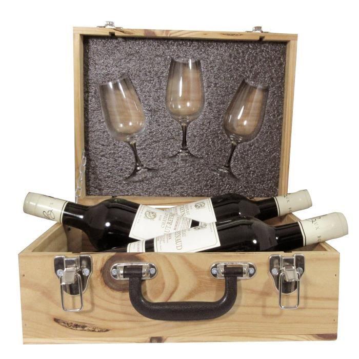 Coffret Vin Trio Degustation Avec Verres INAO