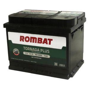 BATTERIE VÉHICULE ROMBAT Tornada T262 Batterie 12 V 62 Ah 560 A Noir