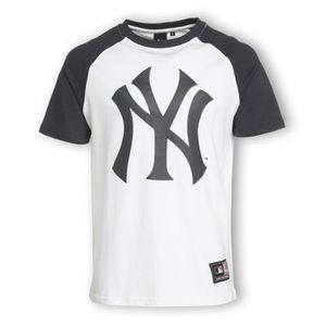 MAJESTIC T-shirt Yankees Homme Blanc et gris - Achat   Vente t-shirt ... d22fcba6d03a