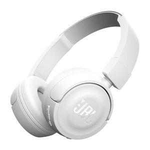 CASQUE - ÉCOUTEURS JBL T450BTWHT Casque supra-auriculaire Bluetooth -