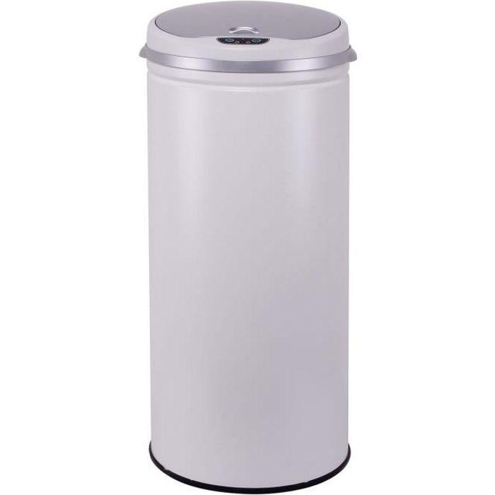 poubelle automatique blanche achat vente poubelle. Black Bedroom Furniture Sets. Home Design Ideas