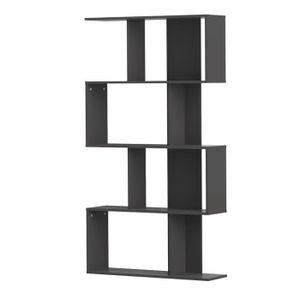 ETAGÈRE MURALE CHERRY Etagère déco 1m65 x 89 cm coloris noir