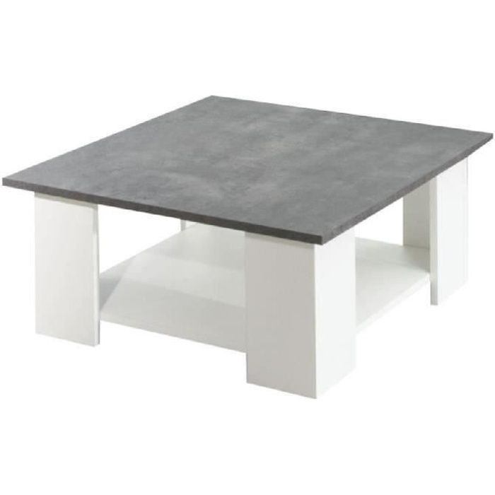 elegant lime table basse style mlamine blan with table beton pas cher. Black Bedroom Furniture Sets. Home Design Ideas