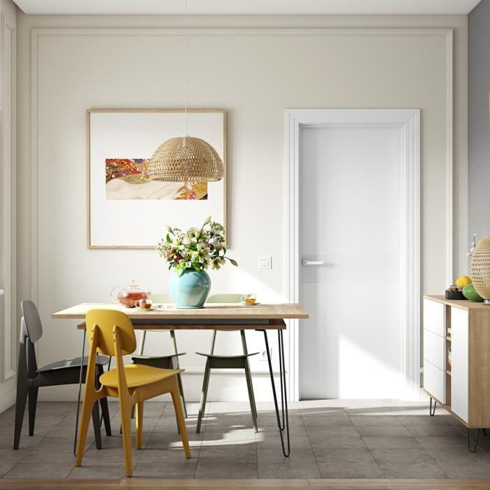 AERO Table à manger extensible de 6 à 8 personnes vintage décor chêne - L  174 x l 90 cm 7eb7804da9d8