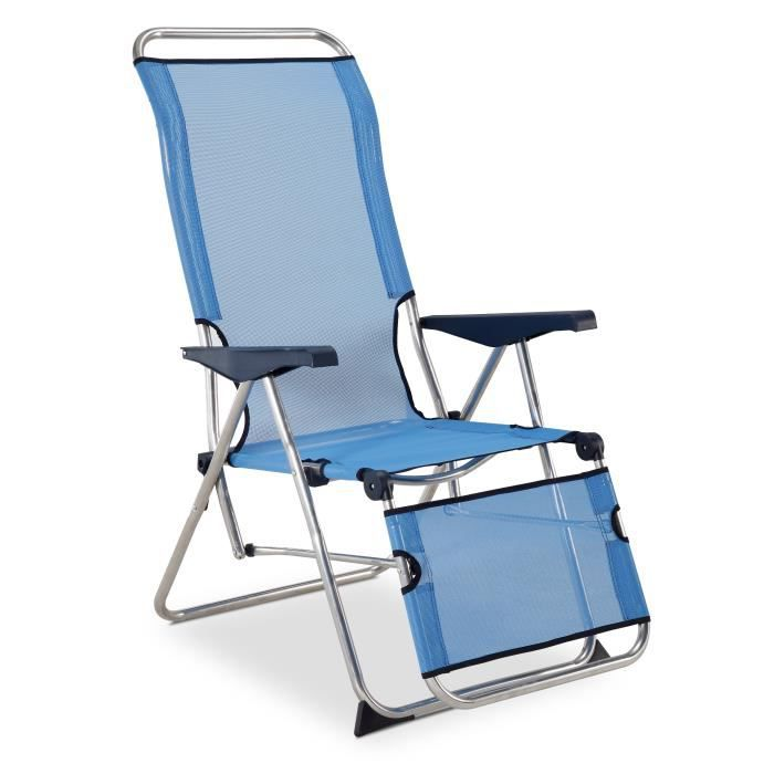 CHAISE DE CAMPING Fauteuil Relax 5 Positions Alu