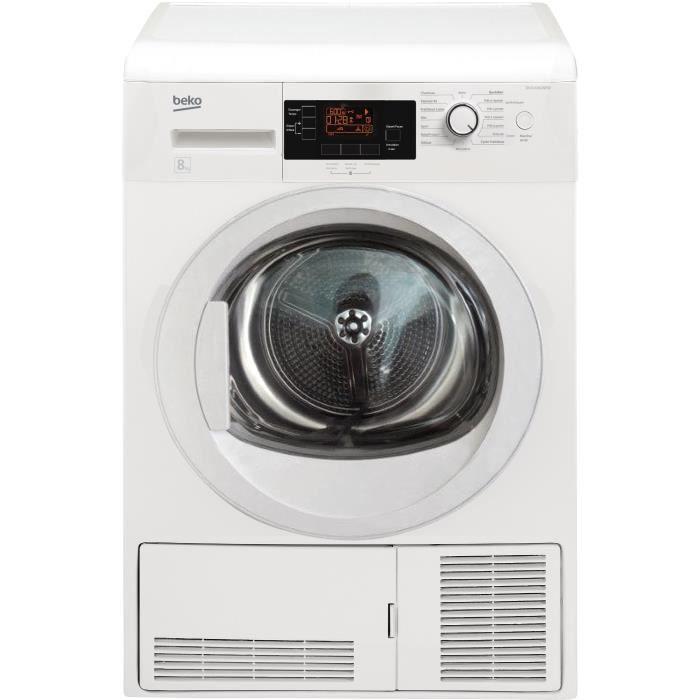 beko du8104gx0w - sèche-linge - 8kg - condensation - classe b
