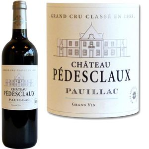VIN ROUGE Château Pedesclaux Pauillac 2011 x1