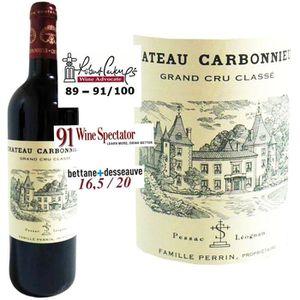 VIN ROUGE Château Carbonnieux AOC Pessac léognan 2012 - V...
