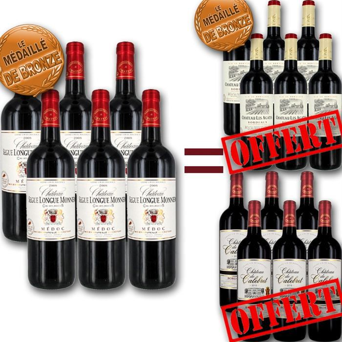 VIN ROUGE 6 Crus Bourgeois Achetés = 12 bouteilles OFFERTES