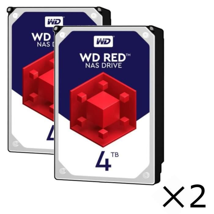 DISQUE DUR INTERNE Pack x2 : Disque dur Interne NAS WD Red™ - 4To - 5