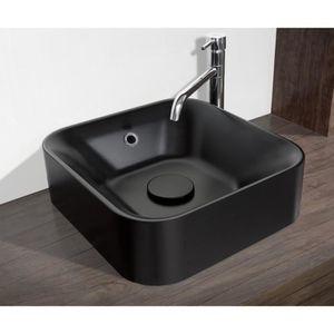 LAVABO - VASQUE MITOLA Vasque carré Capri 38x38 cm noir mat