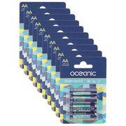 PILES OCEANIC 10 Packs de 4 Piles Alcalines LR6 AA 1.5V