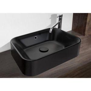 LAVABO - VASQUE MITOLA Vasque rectangulaire Capri 38x48 cm noir ma