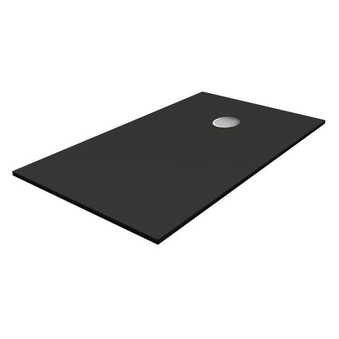 Receveur De Douche 160 X 90 ocÉane receveur de douche en pierre - 160 x 90 cm - noir - achat