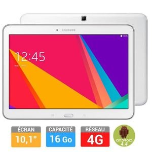 TABLETTE TACTILE Samsung Galaxy Tab 4 10'' Blanche 16Go 4G