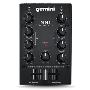 PLATINE DJ GEMINI MM1 MINI MIXER Platine DJ 2 voies