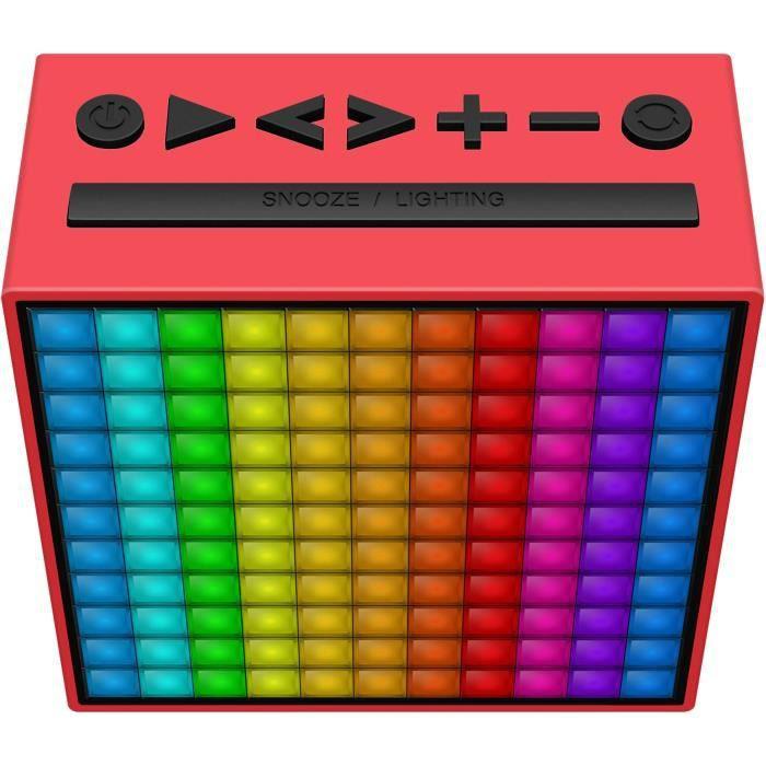 Divoom Timebox Radio Réveil Son Et Lumière - Rouge
