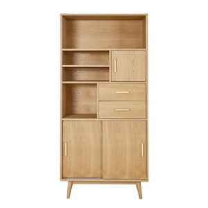 bibliothque woody bibliothque scandinave placage bois ch - Bibliotheque Bois Clair