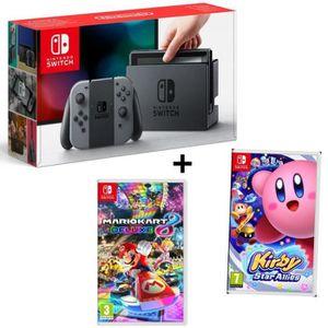 CONSOLE NINTENDO SWITCH Pack NINTENDO Console Switch Joy-Cons gris + Jeu K