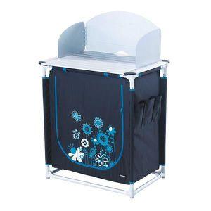MEUBLE DE CAMPING TRIGANO Meuble de cuisine - Gris et bleu turquoise