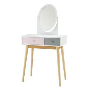 coiffeuse achat vente coiffeuse pas cher soldes d s le 27 juin cdiscount. Black Bedroom Furniture Sets. Home Design Ideas