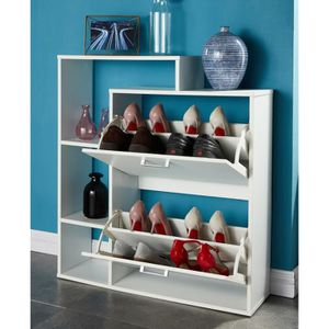 meuble chaussures achat vente meuble chaussures pas cher cdiscount. Black Bedroom Furniture Sets. Home Design Ideas