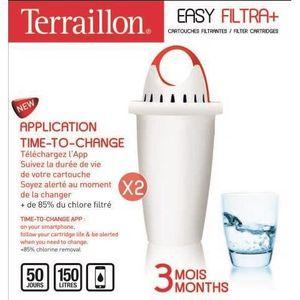 FILTRE POUR CARAFE TERRAILLON Cartouche Easy Filtra + 3 mois - 10956