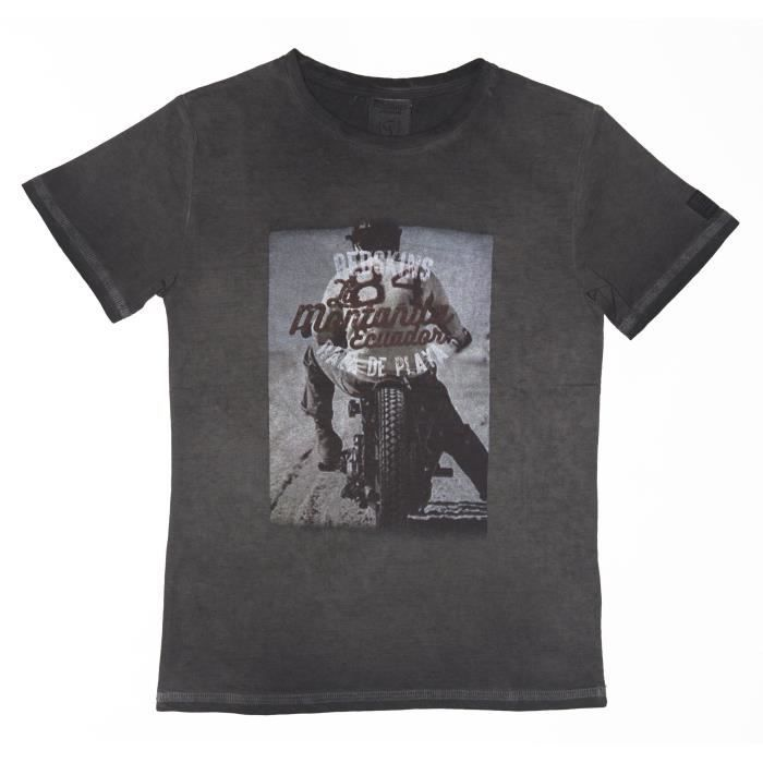 b57248852397f REDSKINS T-shirt Manches Courtes Biky Enfant Mixte Noir - Achat ...