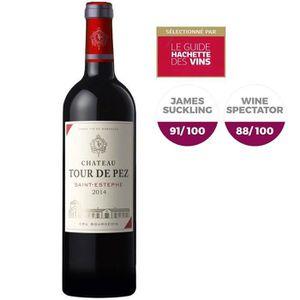 ch teau tour de pez saint est phe cru bourgeois 2014 vin rouge achat vente vin rouge ch. Black Bedroom Furniture Sets. Home Design Ideas