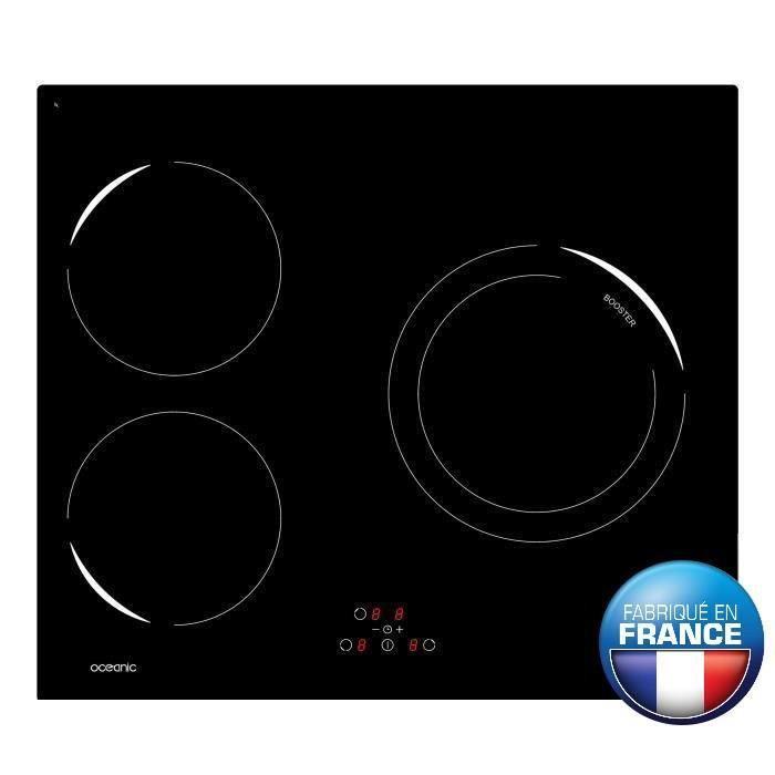 nouveau concept 60218 878ab Plaque de cuisson electrique 3 feux